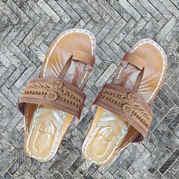 Handmade Handmade leather Chappal Brown 3