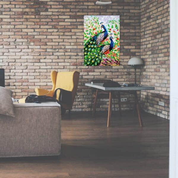 Handmade 3d Portrait of Peacocks