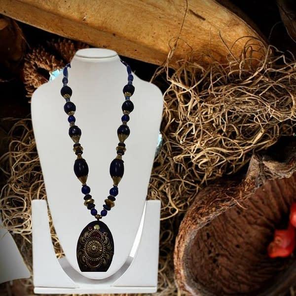 Handmade Designer Beaded Necklace with Pendant