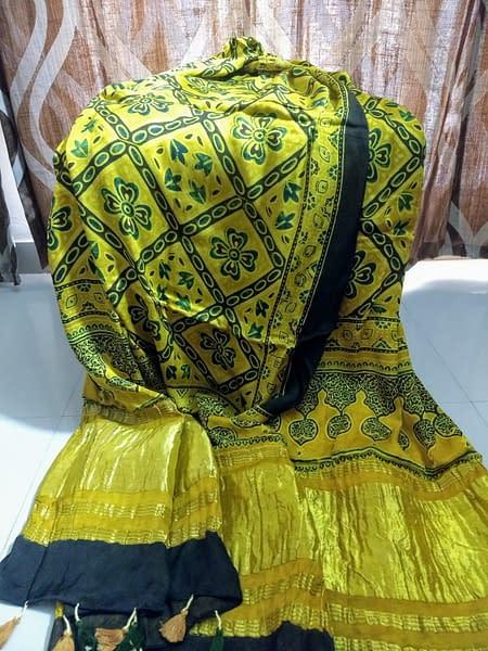 Handmade Ajrakh dupatta