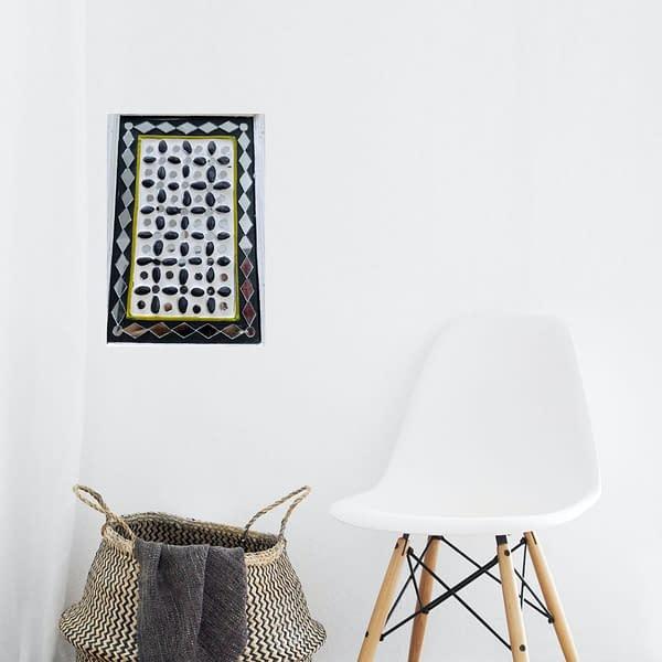 Handmade Mud-art Key-holder and decorative wall -hanging
