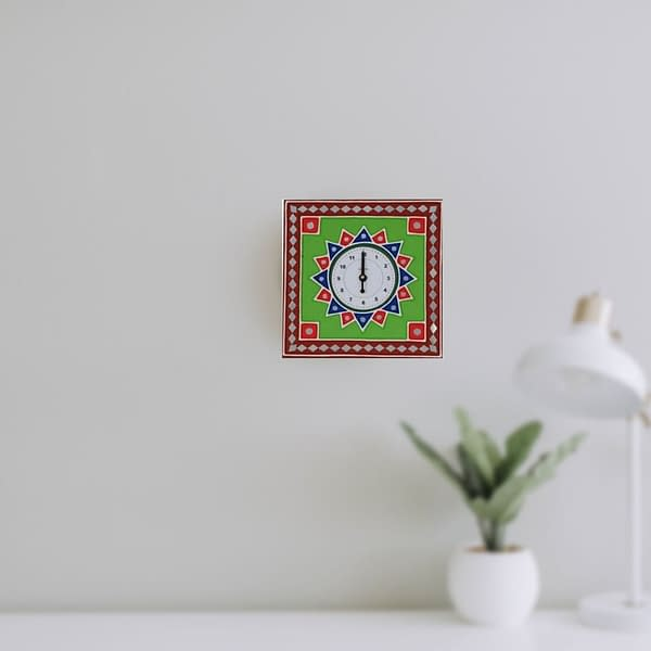 Handmade Mud-art Wall-clock
