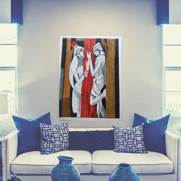 Handmade Nar-Nari(Man & Woman) painting