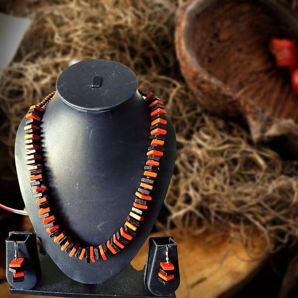Handmade Wooden beads jewelry set