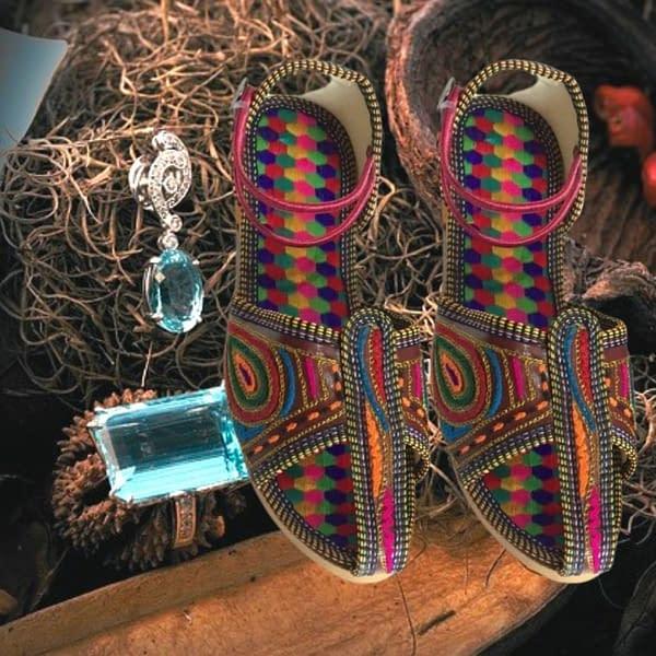 Handmade Latest Design Colorful Mojari