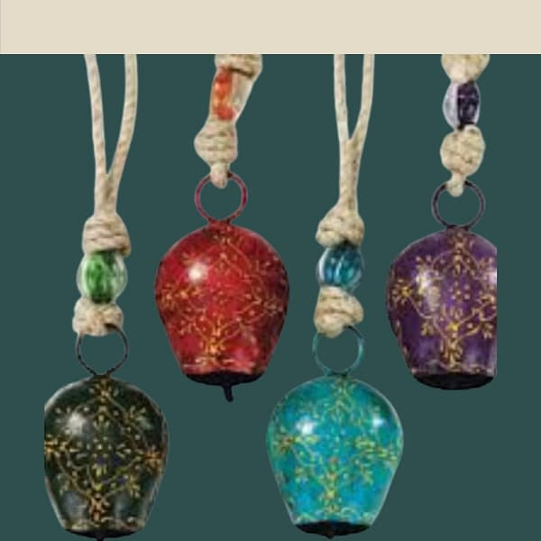 Handmade Colored Bells Big (Set of 4) 3