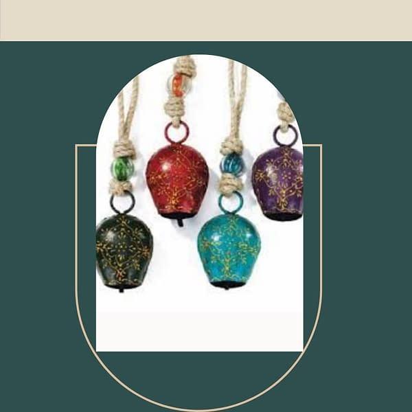 Handmade Colored Bells Big (Set of 4)