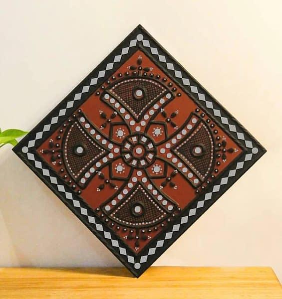 Handmade Lippan art