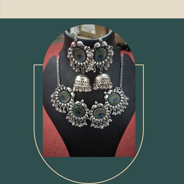 Handmade Morpankh necklace set