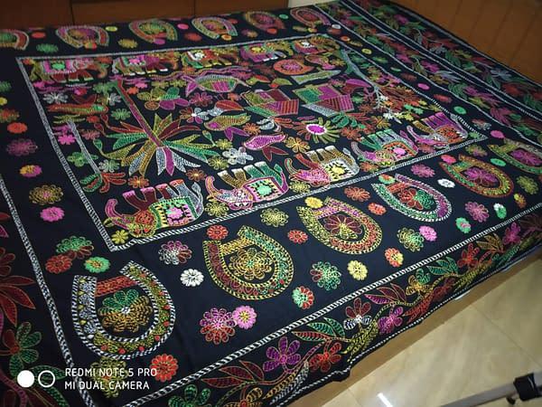 Handmade Nokshi Katha Black