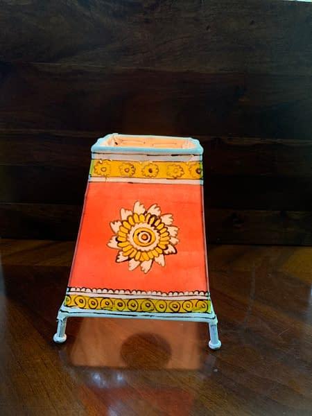 Handmade Tholu Bommalata Lamp 3