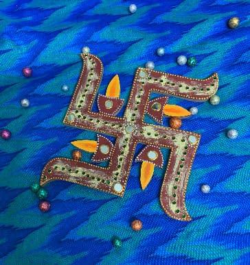 Handmade Swastik with diyas