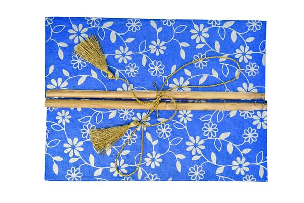 Handmade Recycled Paper Artist Diary with bamoo lock (Set of 2)