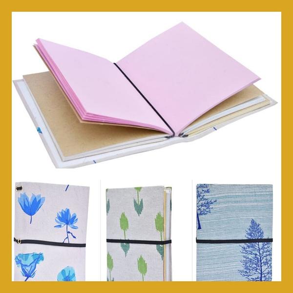 Handmade Handmade Paper Cloth cover diary (Set of 2)