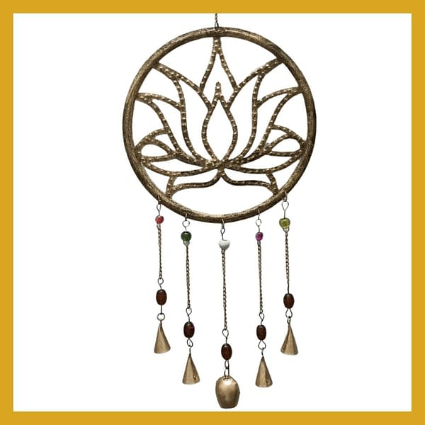 Handmade Lotus Chime with long bells 3