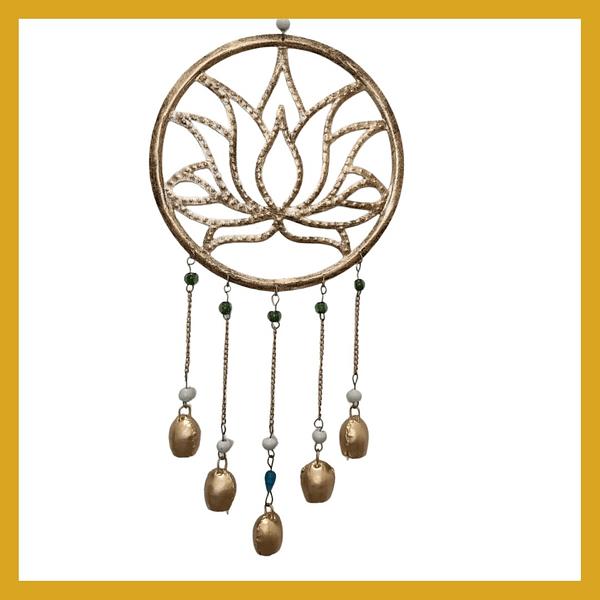 Handmade Lotus Chime with spherical bells 3