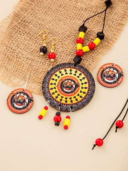 Handmade Bright Necklace set with earrings