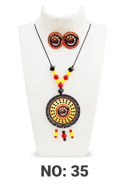 Handmade Bright Necklace set with earrings 3