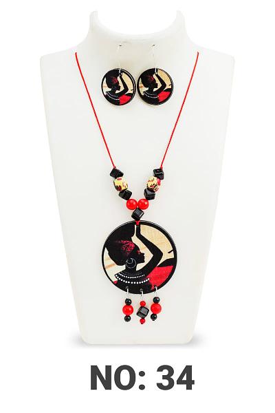 Handmade Twinkling Fancy Women necklace set with earring