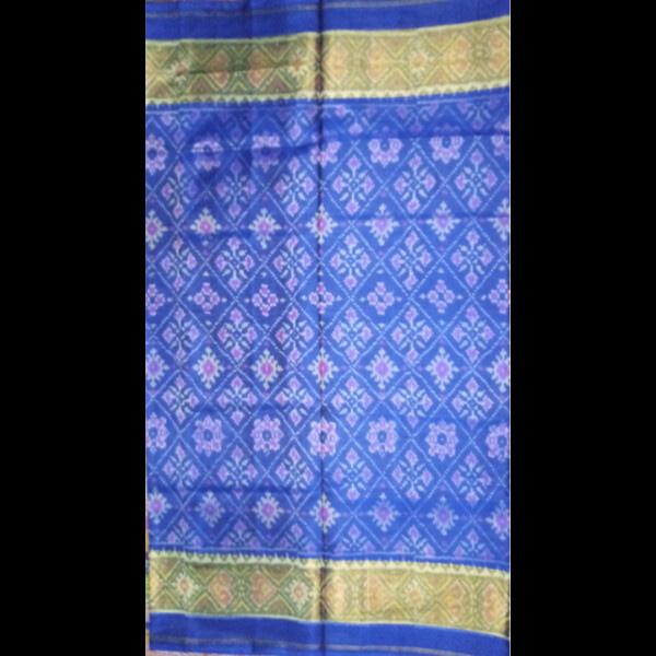 Handmade Blue & golden Patan Patola Silk Saree